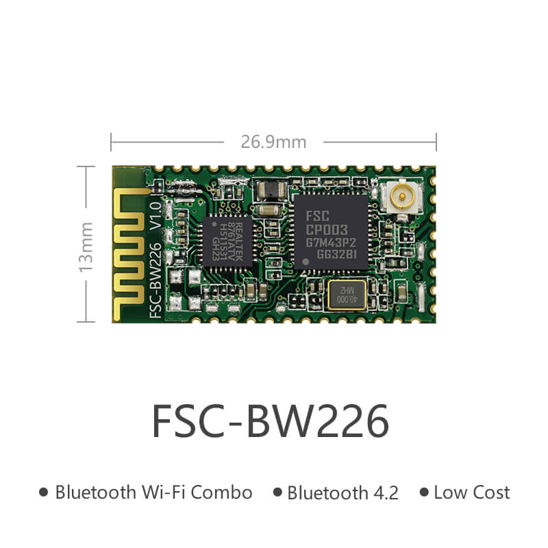QCA9377 High-End Bluetooth & WiFi Combo RF Module | FSC-BW226